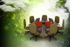 Illustration de Digital de table de conférence illustration de vecteur