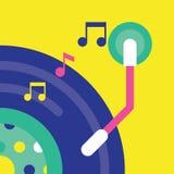 Illustration de disque vinyle et de bruit Images libres de droits