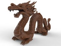 Illustration de dragon de Clay Asian illustration stock