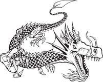 Illustration de dragon de Cyborg Images stock