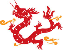 Illustration de dragon de type chinois Image stock