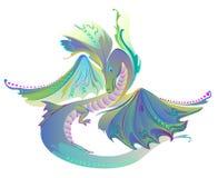Illustration de dragon fantastique de royaume des fées Photographie stock