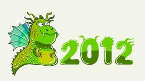 Illustration de dragon vert Photos libres de droits