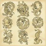 Illustration de dragons Photo stock