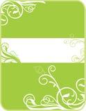 Illustration de drapeau, élément fleuri. Illustration Stock