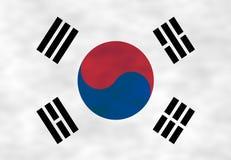 Illustration de drapeau coréen photo libre de droits