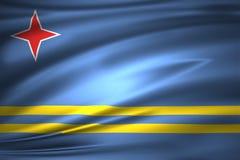 Illustration de drapeau d'Aruba illustration stock