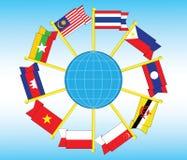 Illustration de drapeau d'Asie du Sud-Est illustration libre de droits