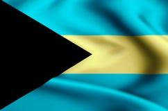 Illustration de drapeau des Bahamas illustration stock