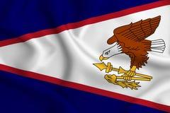 Illustration de drapeau des Samoa américaines illustration stock