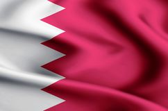 Illustration de drapeau du Bahrain illustration libre de droits
