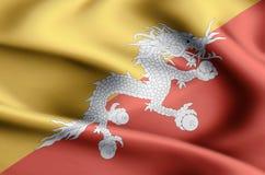 Illustration de drapeau du Bhutan illustration de vecteur