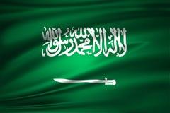 Illustration de drapeau de l'Arabie Saoudite illustration stock