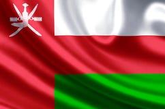 Illustration de drapeau de l'Oman illustration de vecteur