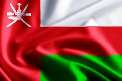Illustration de drapeau de l'Oman illustration stock
