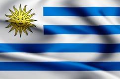 Illustration de drapeau de l'Uruguay illustration libre de droits