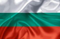 Illustration de drapeau de la Bulgarie illustration de vecteur