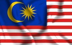 Illustration de drapeau de la Malaisie illustration libre de droits