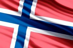 Illustration de drapeau de la Norvège illustration libre de droits