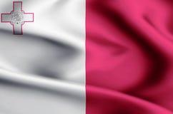 Illustration de drapeau de Malte illustration libre de droits