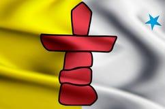 Illustration de drapeau de Nunavut illustration de vecteur