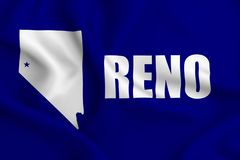 Illustration de drapeau de Reno illustration de vecteur