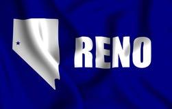 Illustration de drapeau de Reno illustration stock