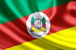 Illustration de drapeau de Rio Grande do Sul illustration de vecteur