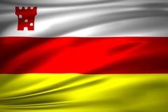 Illustration de drapeau de Santa Barbara la Californie illustration de vecteur