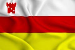 Illustration de drapeau de Santa Barbara la Californie illustration libre de droits