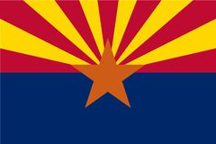 Illustration de drapeau de vecteur de l'Arizona, Etats-Unis d'Amérique Illustration Stock