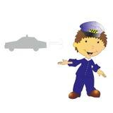 Illustration de draver de taxi Images libres de droits