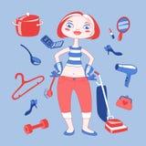 Illustration de femme au foyer Photos libres de droits