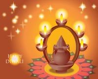 Illustration de festival de Diwali d'Indien Image stock