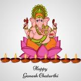 Illustration de festival indou Ganesh Chaturthi Background Photos stock
