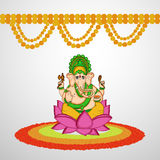 Illustration de festival indou Ganesh Chaturthi Background Photo stock