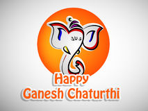 Illustration de festival indou Ganesh Chaturthi Background Images libres de droits
