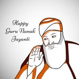 Illustration de festival sikh Guru Nanak Jayanti Background Photo stock