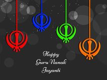 Illustration de festival sikh Guru Nanak Jayanti Background Image libre de droits