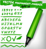 Illustration de feutre-stylo de vecteur Images stock