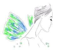 Illustration de fille d'imagination de mode Images libres de droits