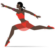 Illustration de fille de danseur illustration stock