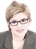 Illustration de fille de l'adolescence dans des lunettes illustration libre de droits