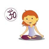 Illustration de fille de yoga Photo libre de droits