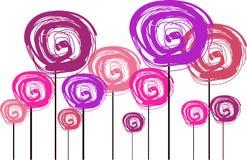 Illustration de fleur dans des couleurs en pastel Photos libres de droits