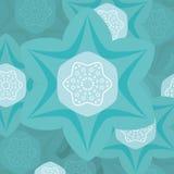 Illustration de fleur de turquoise Photos stock