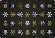 Illustration de flocons de neige de vecteur Photo stock
