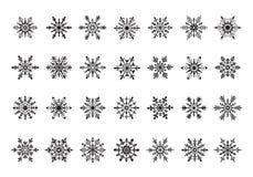 Illustration de flocons de neige de vecteur Photographie stock libre de droits