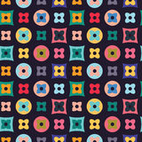 Illustration de fond abstrait avec la grille des chiffres plats Photos stock