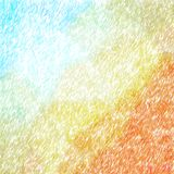 Illustration de fond abstrait d'orange et d'Aqua Abstract Color Pencil Square illustration libre de droits